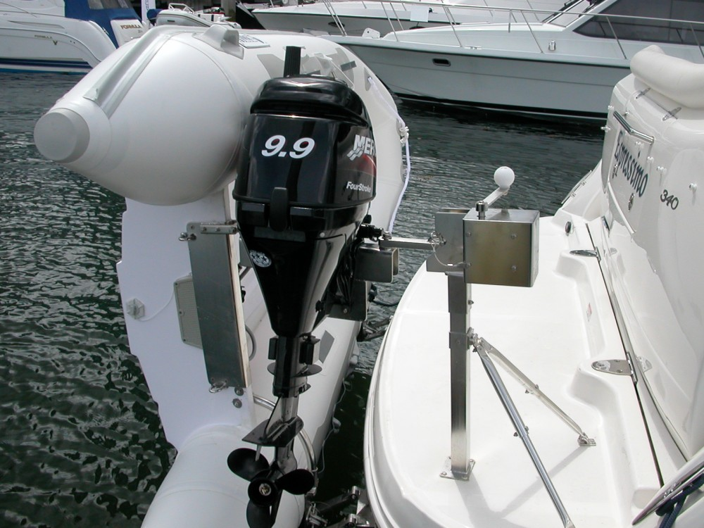 Center Console Boat >> Sea Ray - Sea Wise Davit System